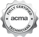 Our staff are fully licensed ACMA technicians.